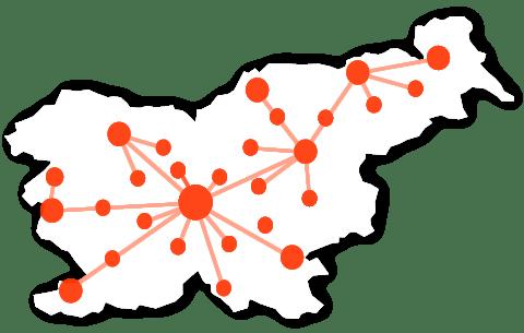 Izvajanje zakoličb na omrežju Telekoma Slovenije